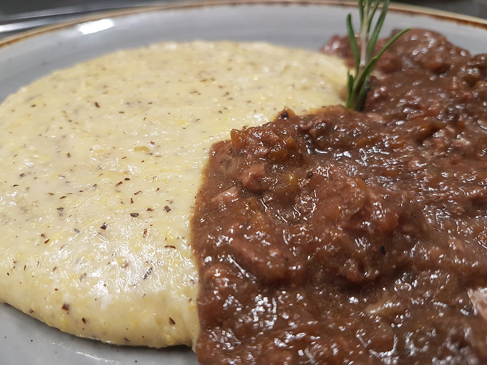 polenta con brasato
